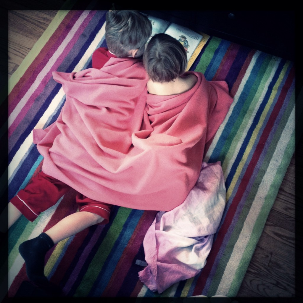 big brother reading to sister 1